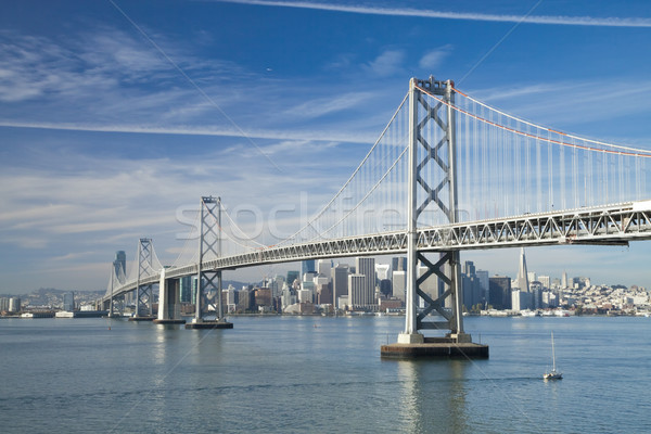 San Francisco and Bay bridge Stock photo © hanusst