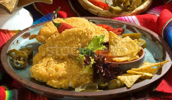 Fry chicken breasts Stock photo © hanusst