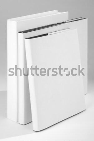 Három könyvborító fehér iroda papír könyv Stock fotó © hanusst
