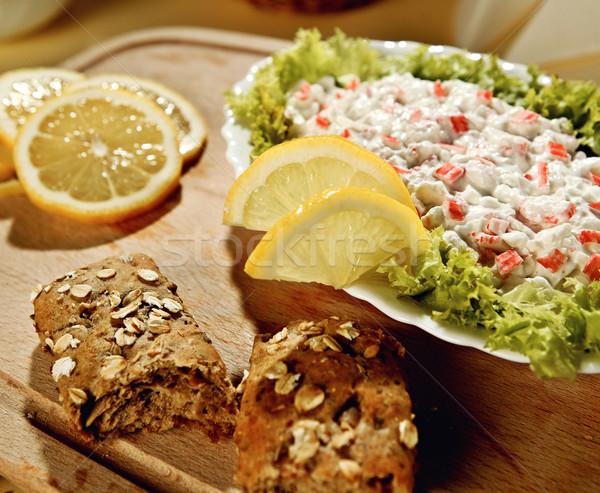 カニ ディップ レモン 新鮮な パン 食品 ストックフォト © hanusst