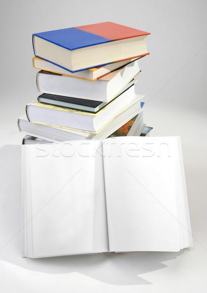 Livro livros escritório papel Foto stock © hanusst