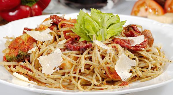 The sundried tomato w pasta Stock photo © hanusst
