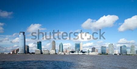New Jersey panorama rivier business hemel huis Stockfoto © hanusst