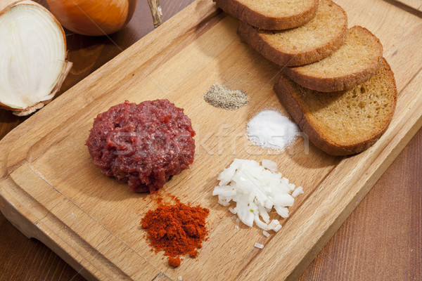 Steak tartar Stock photo © hanusst