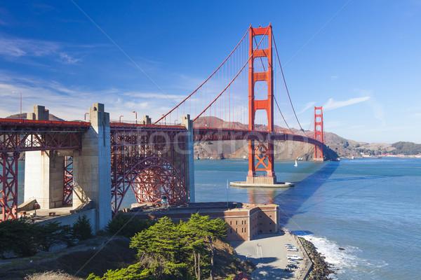 Golden Gate Bridge ciudad San Francisco cielo agua carretera Foto stock © hanusst
