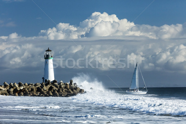 Phare rive Californie USA nuages Photo stock © hanusst