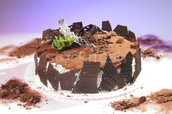 Chocolate cake Stock photo © hanusst