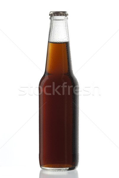 Soda bottle alcoholic drink Cuba libre with water drops Stock photo © hanusst