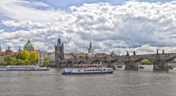 Prague Charles bridge Stock photo © hanusst