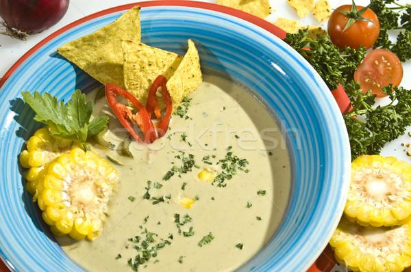 Cream corn soup Stock photo © hanusst