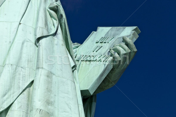 The Statue of Liberty the Detail of Declaration of Independence Stock photo © hanusst
