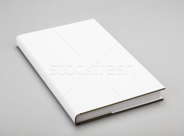 Blank book white cover 5,5 x 8,8 in Stock photo © hanusst