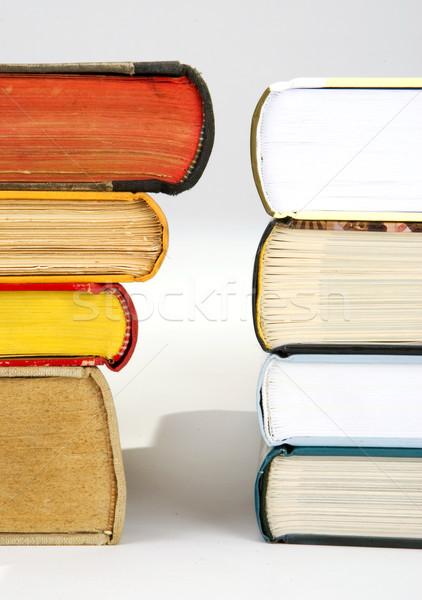 новых старые книгах различный книга в твердой обложке Сток-фото © hanusst