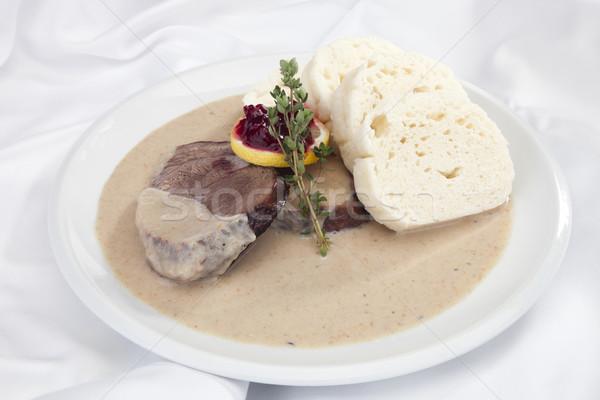 Roast sirloin Stock photo © hanusst