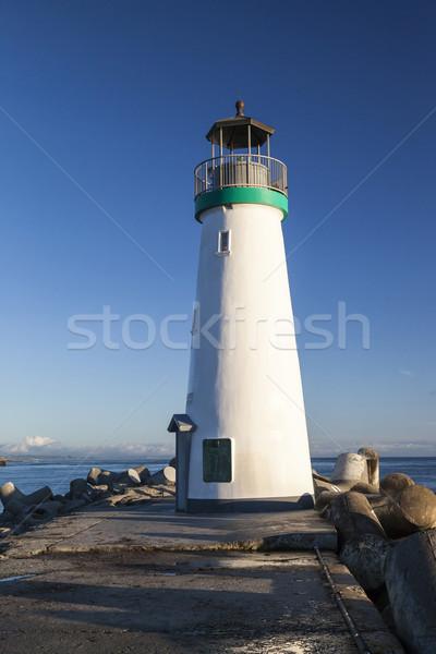 Lighthouse Walton on Santa Cruz Shore Stock photo © hanusst