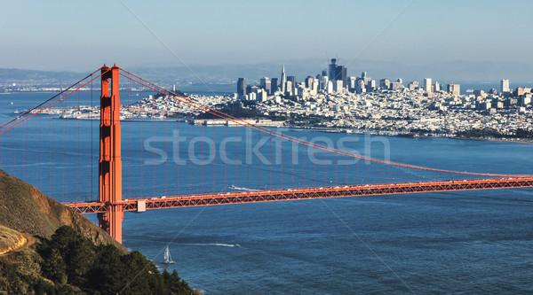 San Francisco Golden Gate Bridge business acqua città mare Foto d'archivio © hanusst