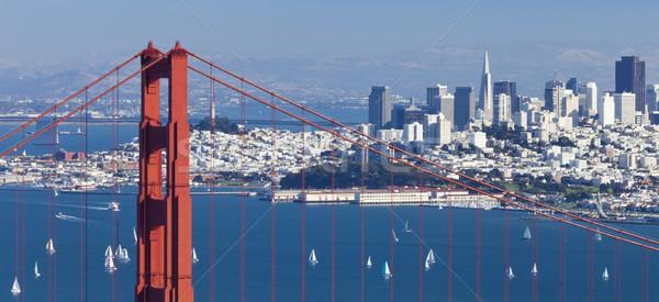 Stok fotoğraf: San · Francisco · panorama · Golden · Gate · Köprüsü · iş · su · şehir