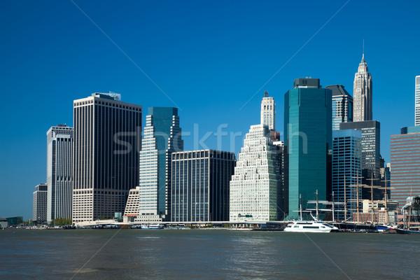 New York City linha do horizonte tarde escritório edifício oceano Foto stock © hanusst