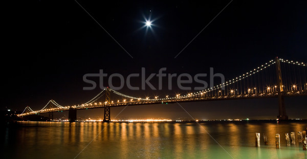 San Francisco Bay bridge in the night Stock photo © hanusst