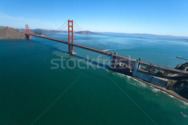 Golden Gate Bridge San Francisco cielo agua carretera ciudad Foto stock © hanusst