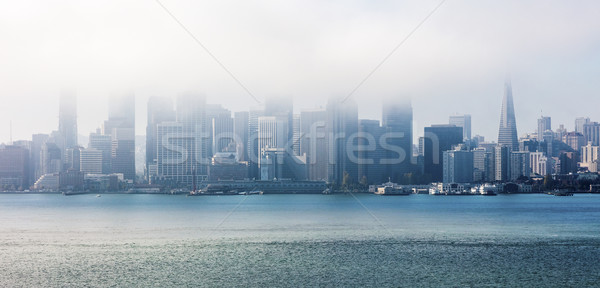 San Francisco in the clouds, Panorama Stock photo © hanusst