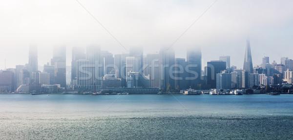 San Francisco wolken panorama business hemel water Stockfoto © hanusst