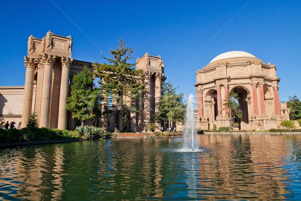 Palácio artes San Francisco espaço grego lagoa Foto stock © hanusst