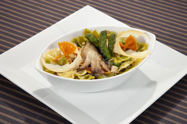 意大利的 麵食 蘆筍 蘑菇 巴馬 光 商業照片 © hanusst