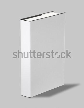 Könyvborító vágási körvonal könyv fehér borító iroda Stock fotó © hanusst
