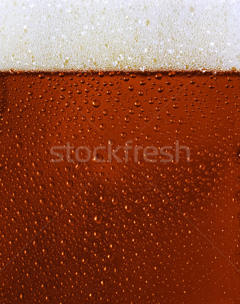 Dewy Black beer glass texture Stock photo © hanusst