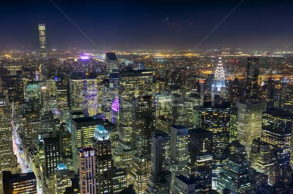 The New York City Uptown skyline Stock photo © hanusst