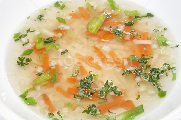 Zupa jarzynowa marchew por seler zdrowia pomarańczowy Zdjęcia stock © hanusst