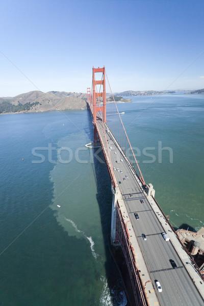 Golden Gate Bridge San Francisco céu água estrada Foto stock © hanusst