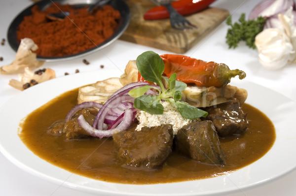 Hongrois rouge viande légumes poivre repas Photo stock © hanusst