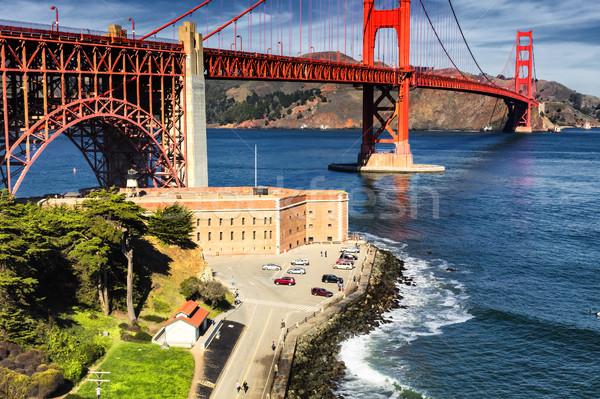 Golden Gate Bridge fuerte punto cielo agua carretera Foto stock © hanusst