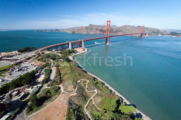 Golden Gate Bridge forte ponto céu água estrada Foto stock © hanusst