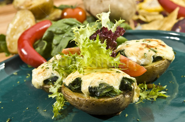 Meksika patates çedar peynir ıspanak bahar Stok fotoğraf © hanusst