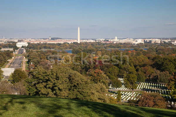 Washington DC panorama - Aerial view of Arlington Hill Stock photo © hanusst
