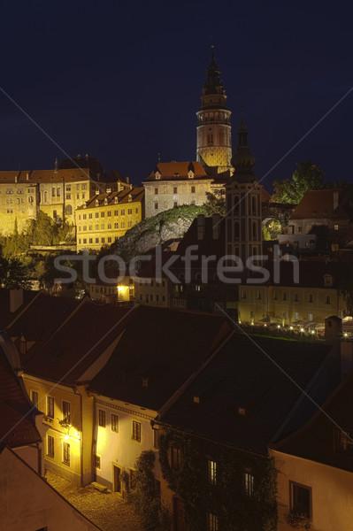 Hdr kastély nyár éjszaka épület város Stock fotó © hanusst