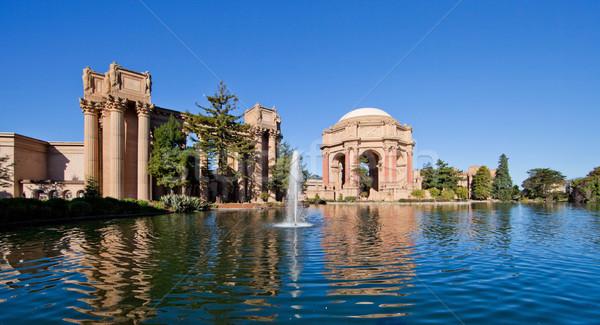 宮殿 芸術 サンフランシスコ スペース ギリシャ語 池 ストックフォト © hanusst