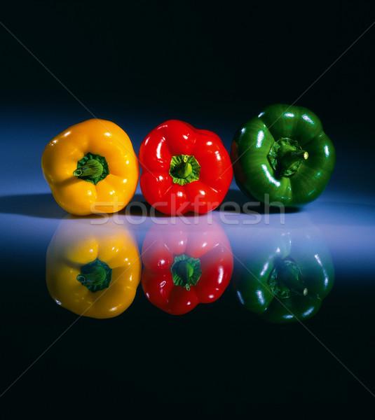 Stok fotoğraf: üç · renkli · tablo · taze · cam · gıda