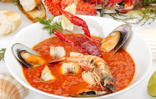 Fish soup Minestrone Stock photo © hanusst