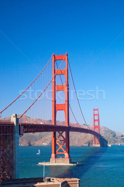 ゴールデンゲートブリッジ サンフランシスコ 空 水 道路 市 ストックフォト © hanusst