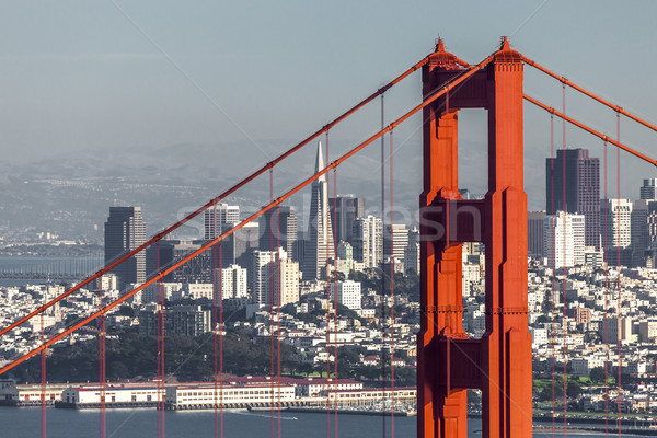 San Francisco Golden Gate Bridge business water stad zee Stockfoto © hanusst
