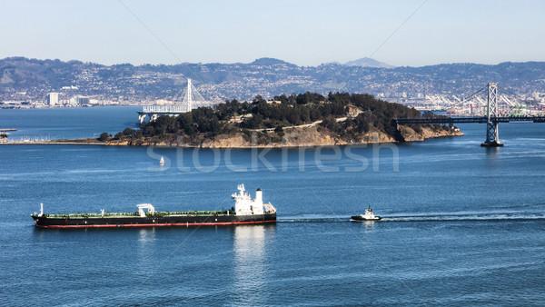 ストックフォト: サンフランシスコ · 国庫 · 島 · 橋 · 空 · 市