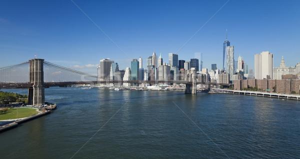 Nueva York centro de la ciudad puente parque Nueva York torre de la libertad Foto stock © hanusst