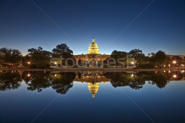 Stock photo: U.S. Capitol at night