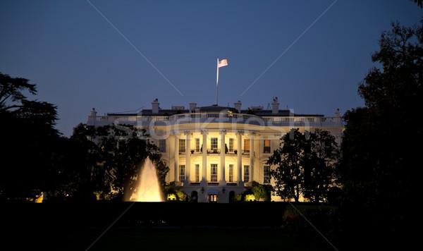 Witte huis nacht Washington DC huis gebouw stad Stockfoto © hanusst