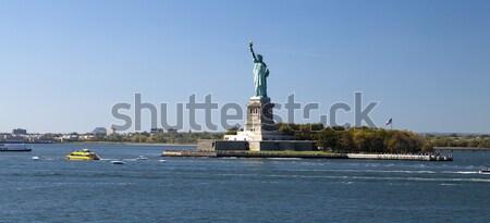 статуя свободы острове Нью-Йорк синий правосудия Сток-фото © hanusst