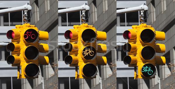 自転車 ライト 交差点 ニューヨーク市 ニューヨーク 市 ストックフォト © hanusst